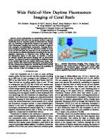 Wide Field-of-View Daytime Fluorescence Imaging of Coral Reefs
