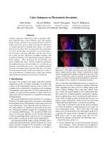 Color Spaces as Photometric Invariants