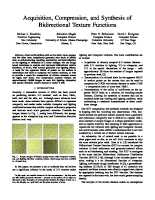 Acquisition, Compression and Synthesis of Bidirectional Texture Functions