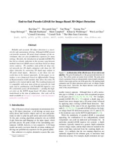 End-to-end Pseudo-LiDAR for Image-Based 3D Object Detection